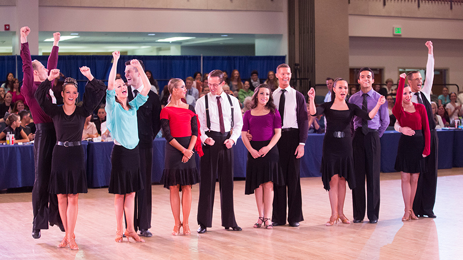 Now in its 41st year, the BYU Dancesport Championships, held in the Wilkinson Student Center of the BYU campus, showcases the finest ballroom dancing from university students and the surrounding intermountain west competitiors.