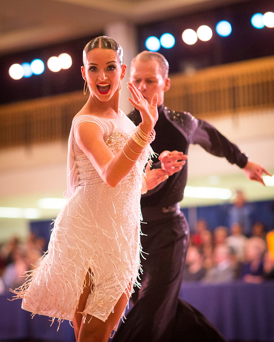 BYU Students who are enrolled in one of the 52 ballroom dance classes taught at the univeristy are able to experience competitive dancing using their class routines in a collegial, supportive and fun environment.